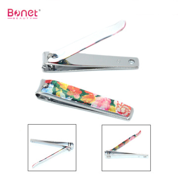 Flower printing giltter handle nail clippers