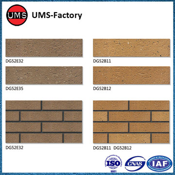 Clinker tile of exterior wall