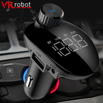 Bluetooth 5.0 FM Transmitter Car Stereo MP3 Player Wireless Handsfree Car Kit Adapter Support USB Disk/TF Card Music Play