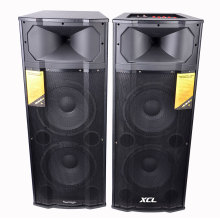 Portable speaker with subwoofer bass mic