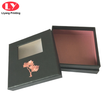 Black Jewellery Gift Box Jewelry Paper Box Window