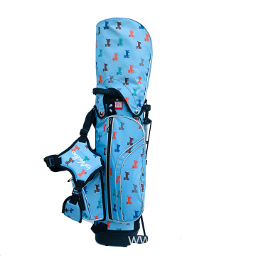 Blue Nylon Bracket Golf Bags
