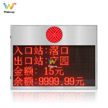 304 stainless steel fee amount led display screen