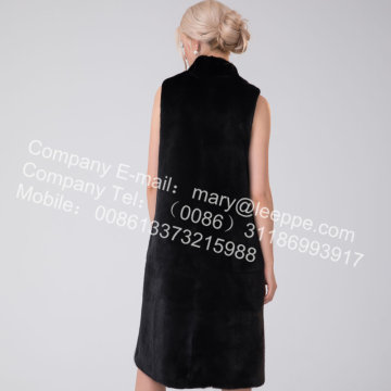 Women Reversible Kopenhagen Mink Vest In Winter