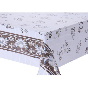 snowflake Transfer Printing Tablecloth with Silver/Gold