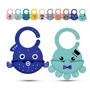 Waterproof Cute Animals Silicone Baby Feeding Bibs