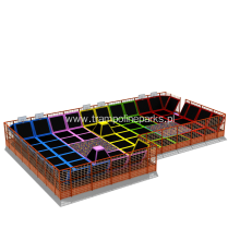Indoor Trampoline Dodgeball Play Arena