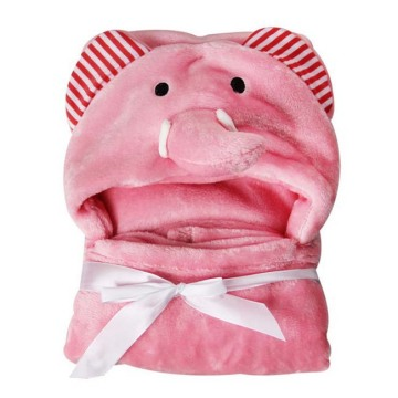 Cheapest Stock Animal Hooded Baby Blanket Manufacturers