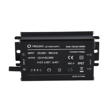12V 24V Konstantspannungs-Aluminium-LED-Treiber IP67