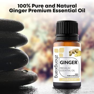 100% pure ginger essential oil for body care