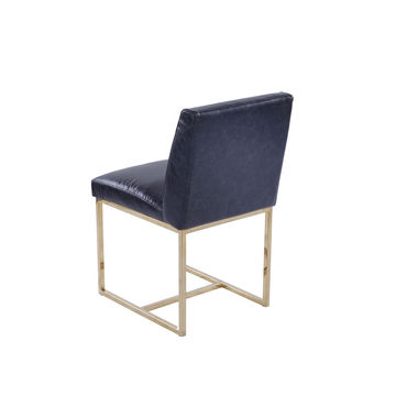 Emery Side Dining Chair Black Leather Collection