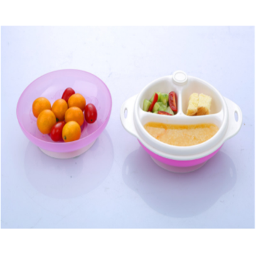 Baby PP Tableware Double Layer Heat Resistant Bowl