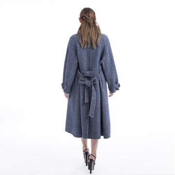 Big Korean version of cashmere coat