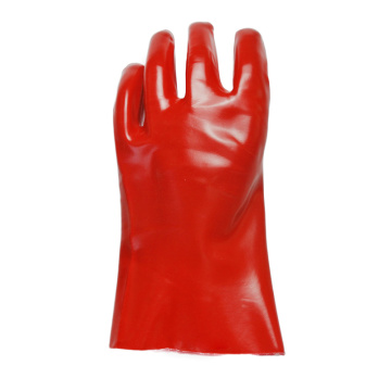 Red cotton. smooth  finish gloves.27cm