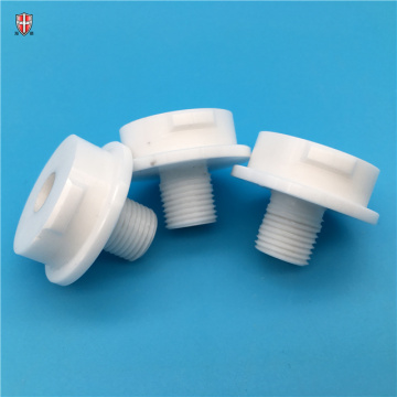 precision customized zirconia ceramic threaded components