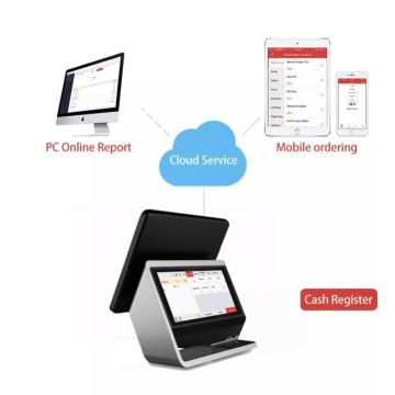 Touch Aluminum Cash Register with NFC reader