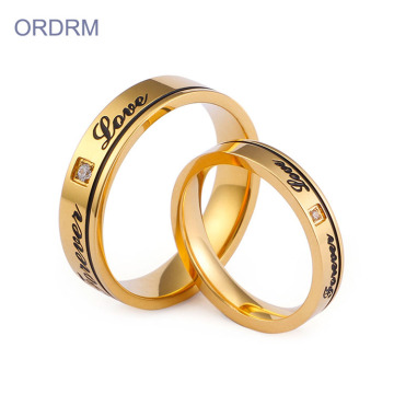 Custom Made Stainless Steel Wedding Ring Set