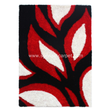 1200D Thick Silk Shaggy With Design Carpet