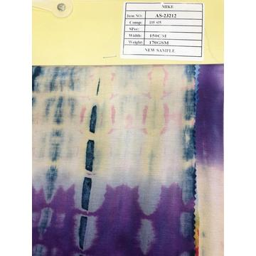 Hot Wholesale Tie Dyed Rayon Knitting Fabric