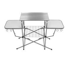 Camping Deluxe Folding Grilling Table with Cupholders