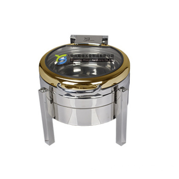Small Round Chafing Dish Bufeet Frame Chafer Square
