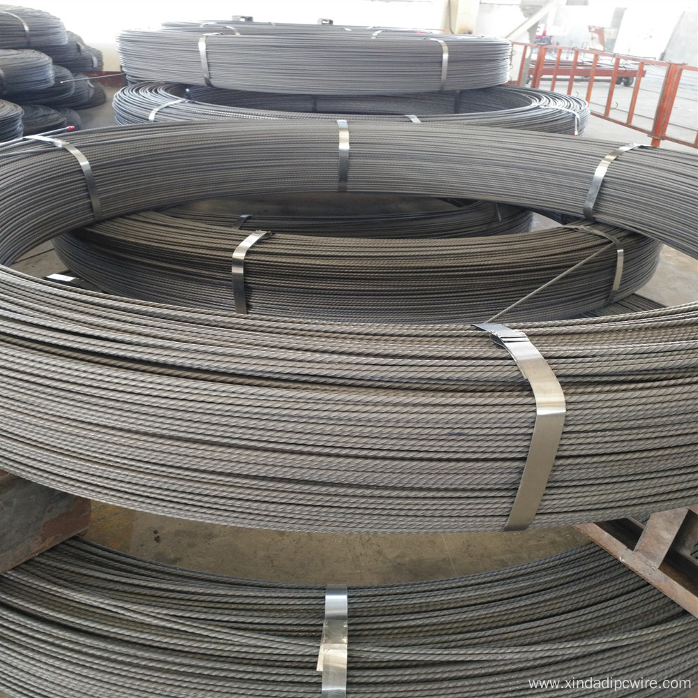 PC wire 7 mm spiral ribbed indented surface