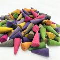 100pcs/bag Assorted Natural Coconut Fresh Air Home Burner Incense Cones Lavender Amber Fragrant Magnolia Mixed Scents Backflow