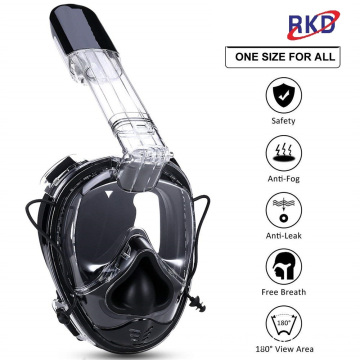Anti fog 180 panoramic full face snorkel mask