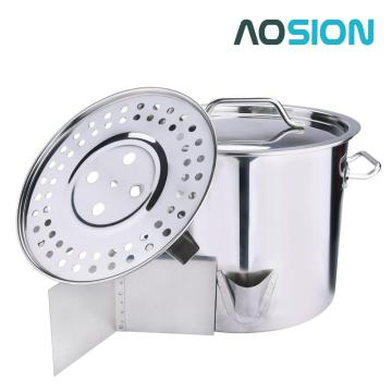 52Quart Stainless Steel Stock Pot with Lid