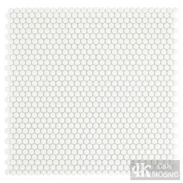Mini Round Mosaic White Color Tile