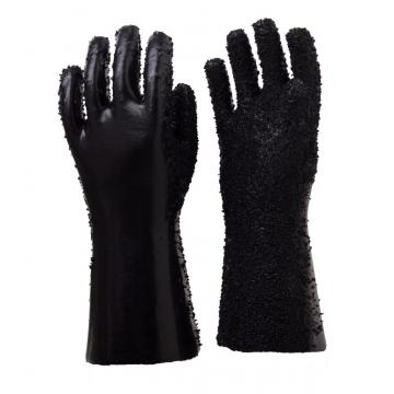 Black PVC Coated Gloves With PVC Chips