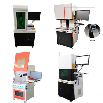 Closed Gold And Silver fiber Laser Engraving Marking Machine