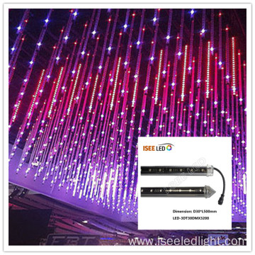 Disco ceiling 3D LED meteor tube