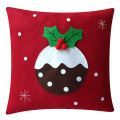 Christmas pillow with pudding pattern