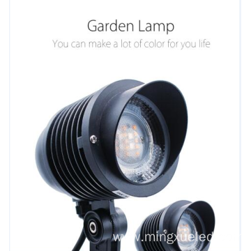 Colorful outdoor garden light