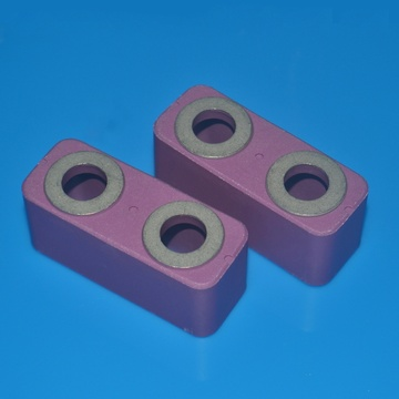 Pink Alumina Ceramic Metallized Body