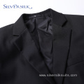 Single breasted black mens 2 piece party suit