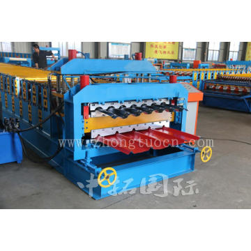 Glazed Tile And Ibr Sheet Double Deck Layer Roll Forming Machinery