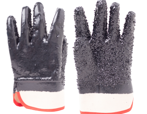 Anti-cut Black PVC Coated Gloves