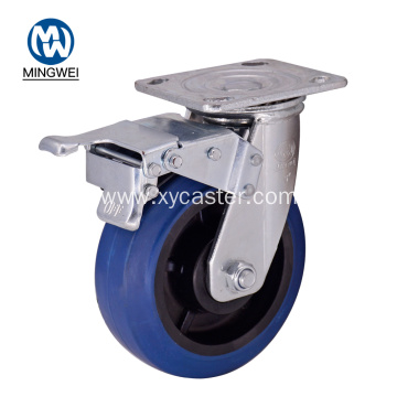 Plastic 6 Inch Rubber Caster with Brake