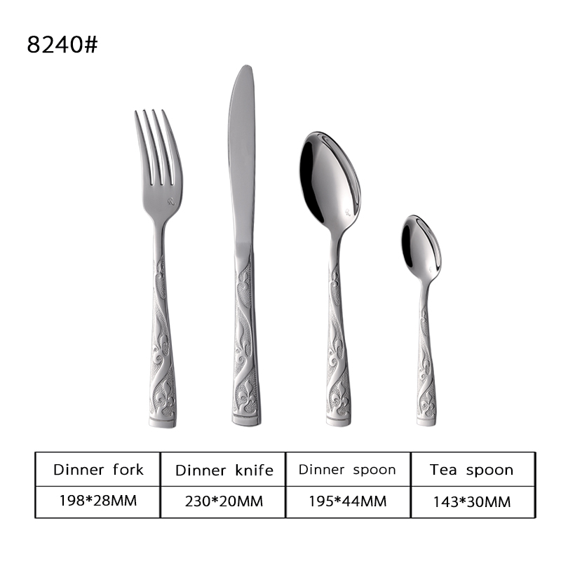 Electroplate Gold Stainless Steel Flatware