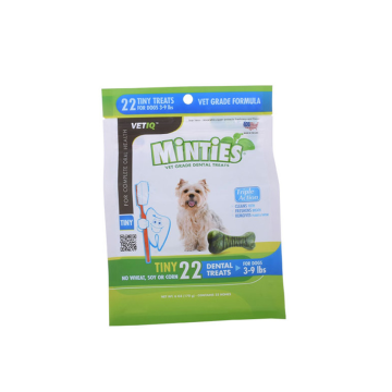 Pet food plastic bag with seal