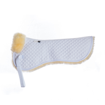 White Quilting with Nature Sheepskin Half Saddle Pad