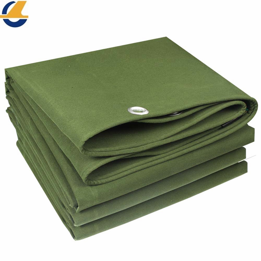 Green Polyester Canvas Tarps