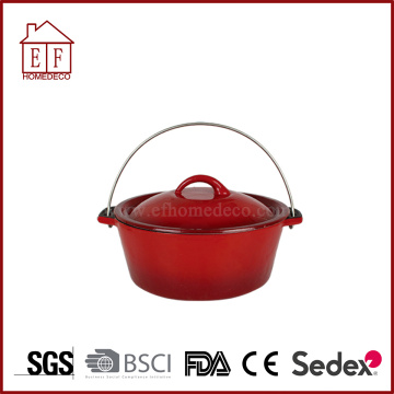 Enameled Casserole Cast Iron Pot for cooking