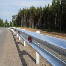 Coated Galvanized Steel Safety Barrier Highway Guardrail