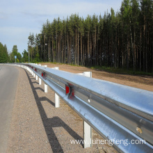 Galvanized Guardrails On Highway