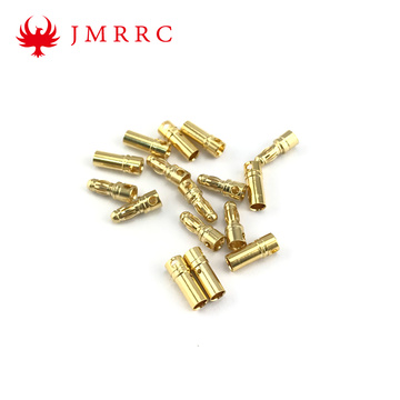 Gold Plated Banana Plug 3.5mm Bullet Connector