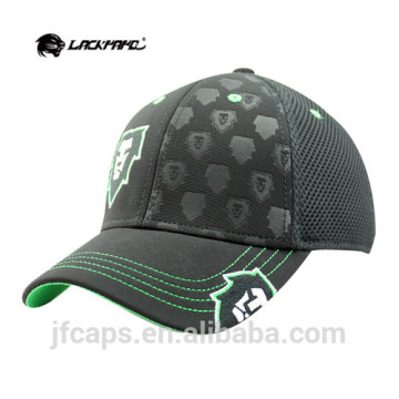 black embossed and printing baseball caps