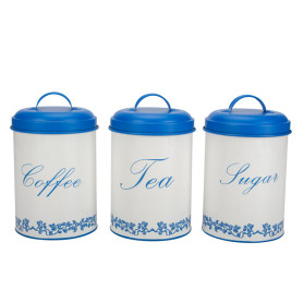 Coffee Tea & Sugar Canisters Set 3